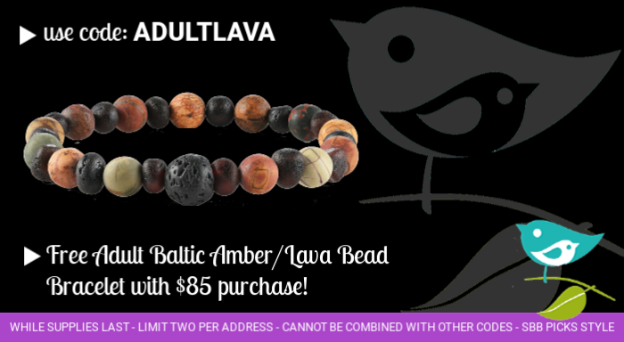 Free Baltic Amber Aromatherapy bracelet with purchase