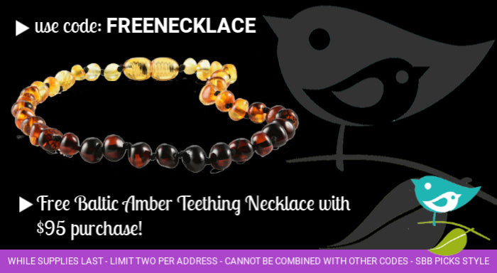 Free Baltic amber teething necklace with purchase
