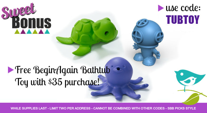 Free Begin Again Bath Toy