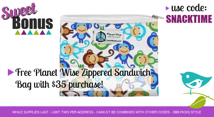 Free Planet Wise Sandwich Bag