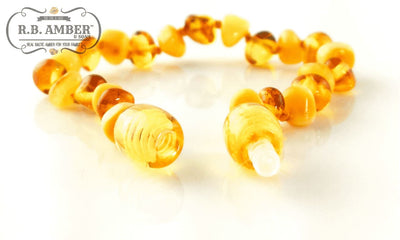 Baltic Amber Children's Bracelet/Anklet Teething Jewelry R.B. Amber Jewelry