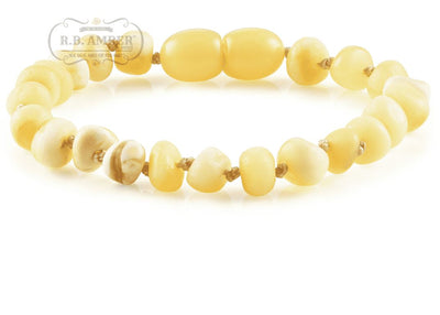 Baltic Amber Children's Bracelet/Anklet Teething Jewelry R.B. Amber Jewelry Butter