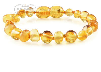 Baltic Amber Children's Bracelet/Anklet Teething Jewelry R.B. Amber Jewelry Honey