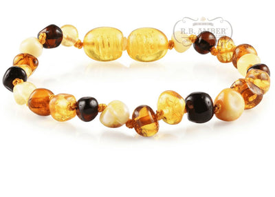 Baltic Amber Children's Bracelet/Anklet Teething Jewelry R.B. Amber Jewelry Multi