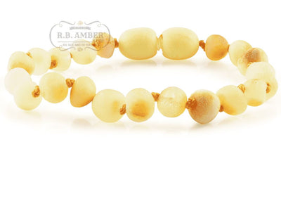Baltic Amber Children's Bracelet/Anklet Teething Jewelry R.B. Amber Jewelry Raw Butter