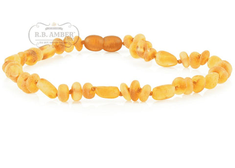 Image of Baltic Amber Necklace for Children - CLEARANCE - Screw Clasp Teething Jewelry R.B. Amber Jewelry