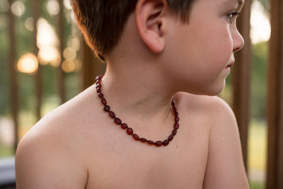 Baltic Amber Necklace for Children - Pop Clasp Teething Jewelry R.B. Amber Jewelry