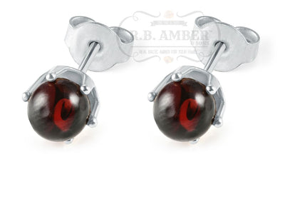 Baltic Amber Stud Earrings Jewelry R.B. Amber Jewelry Cherry