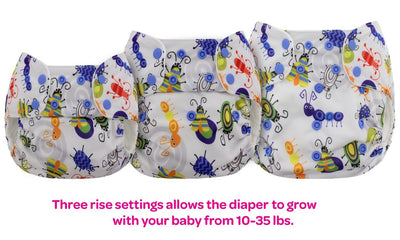 Blueberry Organic One-Size Simplex All-In-One Diaper Cloth Diaper Blueberry Diapers