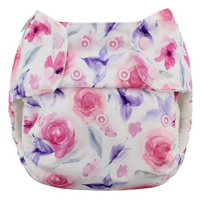 Blueberry Organic One-Size Simplex All-In-One Diaper Cloth Diaper Blueberry Diapers Rose