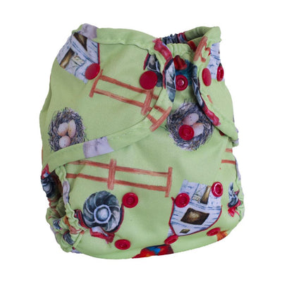 Buttons One-Size Diaper Cover Cloth Diaper Buttons Diapers Farmstead with Fox