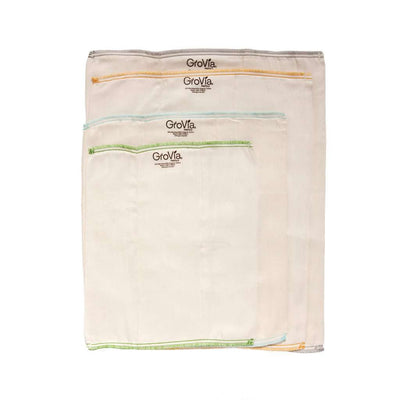 GroVia Bamboo Prefolds (3 pack) Cloth Diaper GroVia