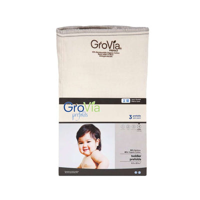 GroVia Bamboo Prefolds (3 pack) Cloth Diaper GroVia Size 4: Toddler (25+ lbs)