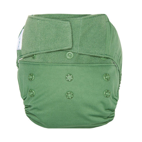 GroVia Hybrid Cloth Diaper Shell Cloth Diaper GroVia Hook & Loop Basil