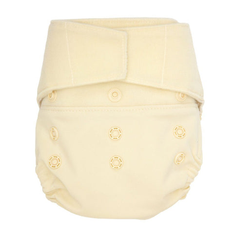 Image of GroVia Hybrid Cloth Diaper Shell Cloth Diaper GroVia Hook & Loop Vanilla