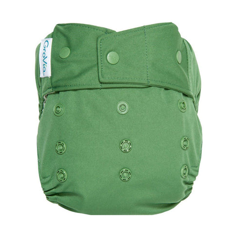 Image of GroVia Hybrid Cloth Diaper Shell Cloth Diaper GroVia Snap Basil