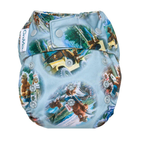 Image of GroVia Hybrid Cloth Diaper Shell Cloth Diaper GroVia Snap Bear In Mind