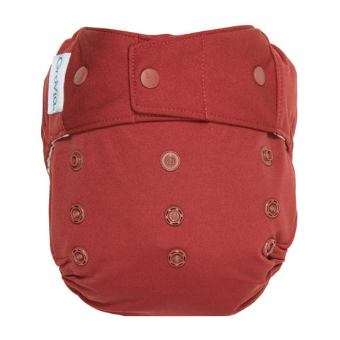 Image of GroVia Hybrid Cloth Diaper Shell Cloth Diaper GroVia Snap Marsala