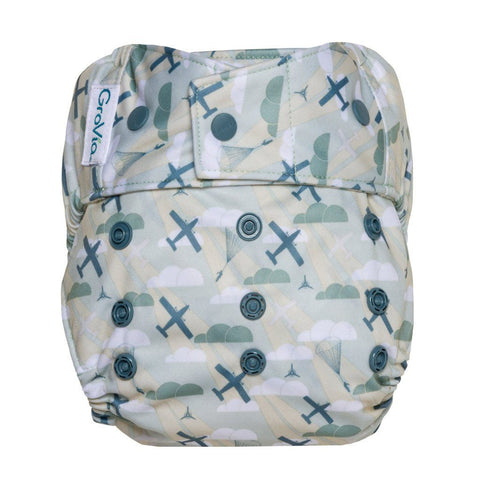Image of GroVia Hybrid Cloth Diaper Shell Cloth Diaper GroVia Snap Maverick