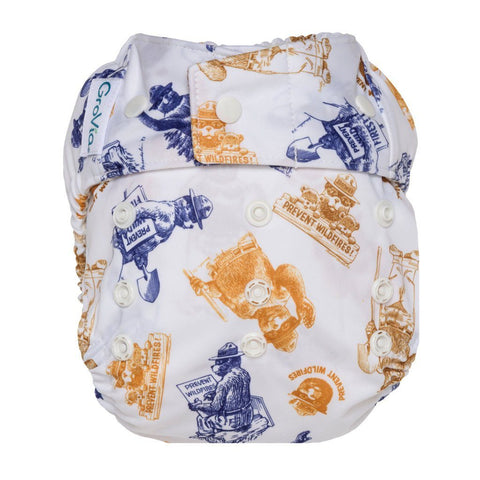 GroVia Hybrid Cloth Diaper Shell Cloth Diaper GroVia Snap Only You