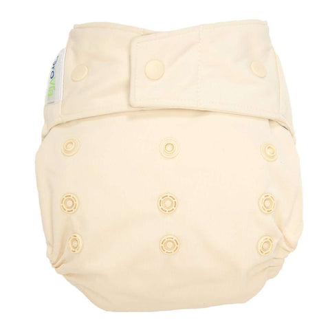 Image of GroVia Hybrid Cloth Diaper Shell Cloth Diaper GroVia Snap Vanilla