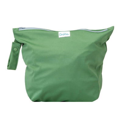 GroVia Zippered Cloth Diaper Wetbag Diapering Accessory GroVia Basil