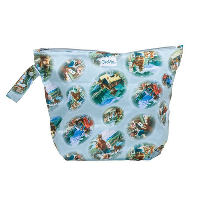 GroVia Zippered Cloth Diaper Wetbag Diapering Accessory GroVia Bear In Mind