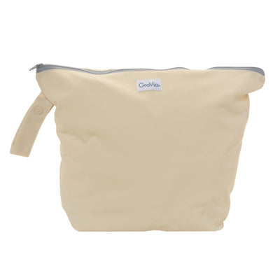 GroVia Zippered Cloth Diaper Wetbag Diapering Accessory GroVia Vanilla