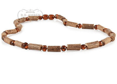 Hazelwood & Baltic Amber Necklace for Adults Jewelry R.B. Amber Jewelry 17-19 inches Dark Cognac