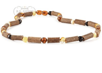 Hazelwood & Baltic Amber Necklace for Adults Jewelry R.B. Amber Jewelry 17-19 inches Multi