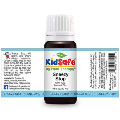 KidSafe Sneezy Stop Synergy Blend - Plant Therapy 100% Pure Essential Oils Essential Oil Plant Therapy Essential Oils