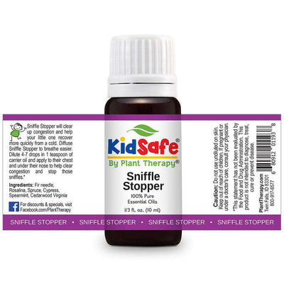 KidSafe Sniffle Stop Synergy Blend - Plant Therapy 100% Pure Essential Oils Essential Oil Plant Therapy Essential Oils