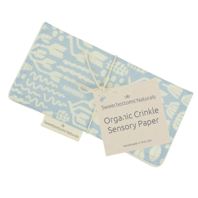 Organic Crinkle Sensory Paper Toy Sweetbottoms Naturals Scandiweeds