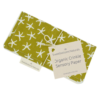 Organic Crinkle Sensory Paper Toy Sweetbottoms Naturals Starfish