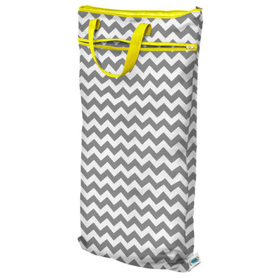 Planet Wise Hanging Wet/Dry Bag Diapering Accessory Planet Wise Gray Chevron