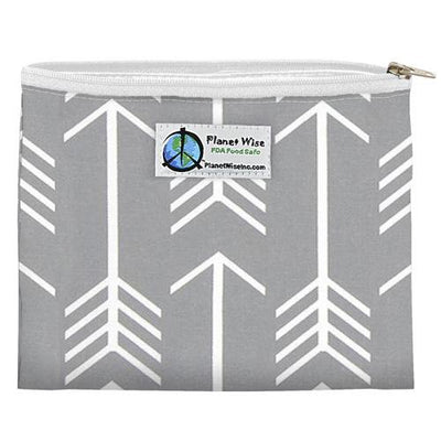 Planet Wise Reusable Zipper Sandwich Bag Feeding Planet Wise Aim Twill