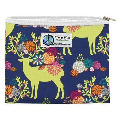 Planet Wise Reusable Zipper Sandwich Bag Feeding Planet Wise Caribou Bloom