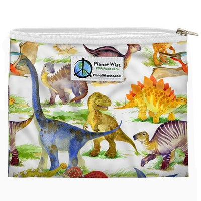 Planet Wise Reusable Zipper Sandwich Bag Feeding Planet Wise Dino Mite Poly