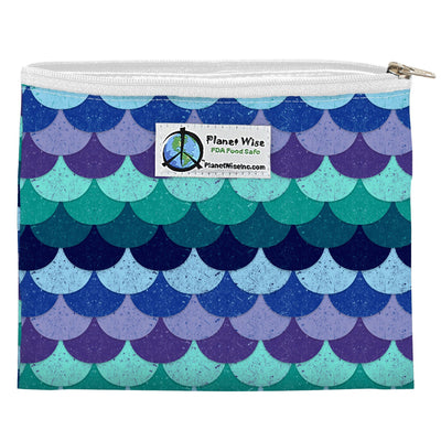 Planet Wise Reusable Zipper Sandwich Bag Feeding Planet Wise Mermaid Tail Poly