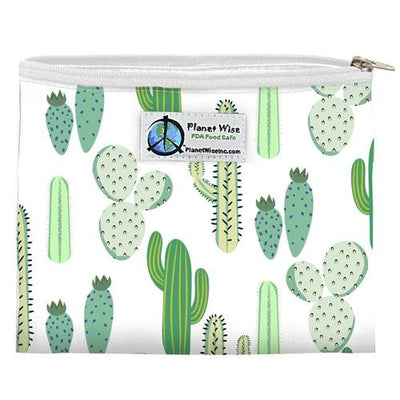 Planet Wise Reusable Zipper Sandwich Bag Feeding Planet Wise Prickly Cactus Poly