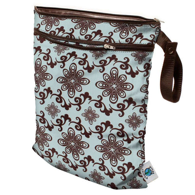 Planet Wise Wet/Dry Bag Diapering Accessory Planet Wise Aqua Swirl