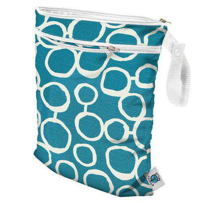 Planet Wise Wet/Dry Bag Diapering Accessory Planet Wise Aquarius Twill