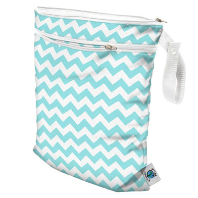 Planet Wise Wet/Dry Bag Diapering Accessory Planet Wise Teal Chevron