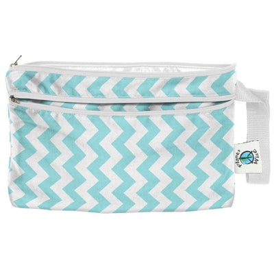 Planet Wise Wet/Dry Clutch Diapering Accessory Planet Wise Teal Chevron