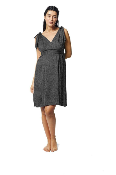 Pretty Pushers Butterfly Sleeve Labor & Delivery Gown Mom | Maternity Pretty Pushers One Size (2-16 pre-pregnancy Charcoal Grey