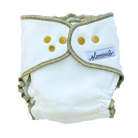 Sloomb Overnight Bamboo Fleece Fitted Cloth Diaper Sustainablebabyish | Sloomb X-Large | 32+ lbs Nettle
