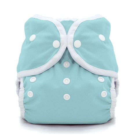 Image of Thirsties Duo Wrap | Snap Cloth Diaper Thirsties Size 1 (6-18lbs) Aqua