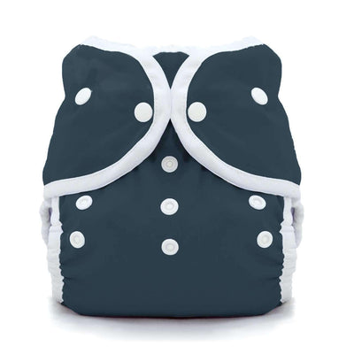 Thirsties Duo Wrap | Snap Cloth Diaper Thirsties Size 1 (6-18lbs) Midnight Blue