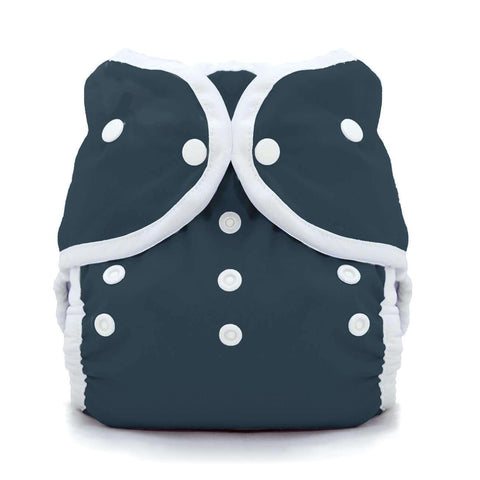 Image of Thirsties Duo Wrap | Snap Cloth Diaper Thirsties Size 1 (6-18lbs) Midnight Blue