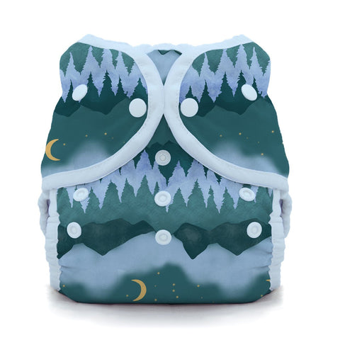 Image of Thirsties Duo Wrap | Snap Cloth Diaper Thirsties Size 1 (6-18lbs) Mountain Twilight
